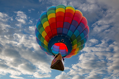 Up Up and Away | In my Beautiful, my Beautiful Balloon.  Captured in the early morning, this balloon was part of a 100 balloon launch at Glens Falls, NY.